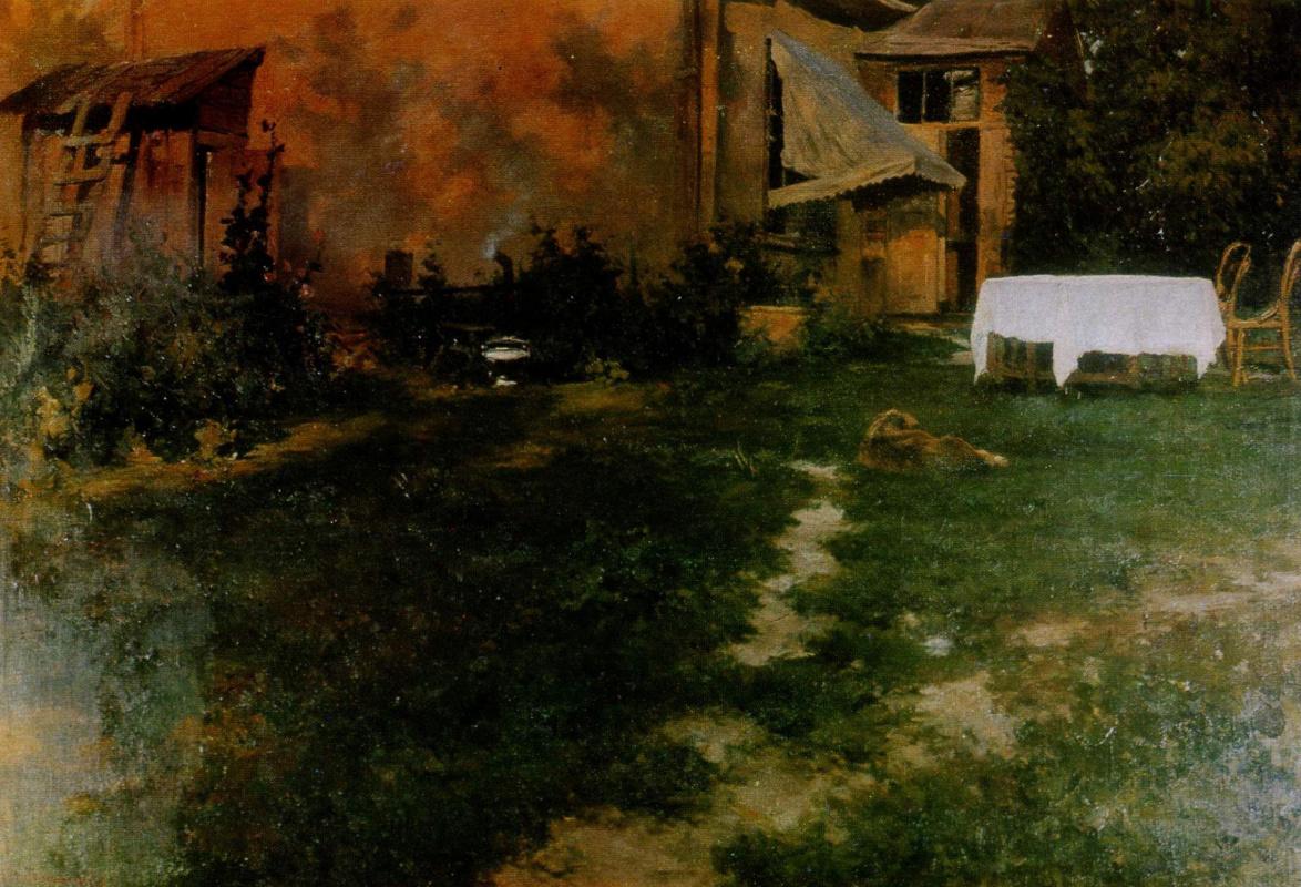 Sergey Ivanovich Svetoslavsky. Country yard