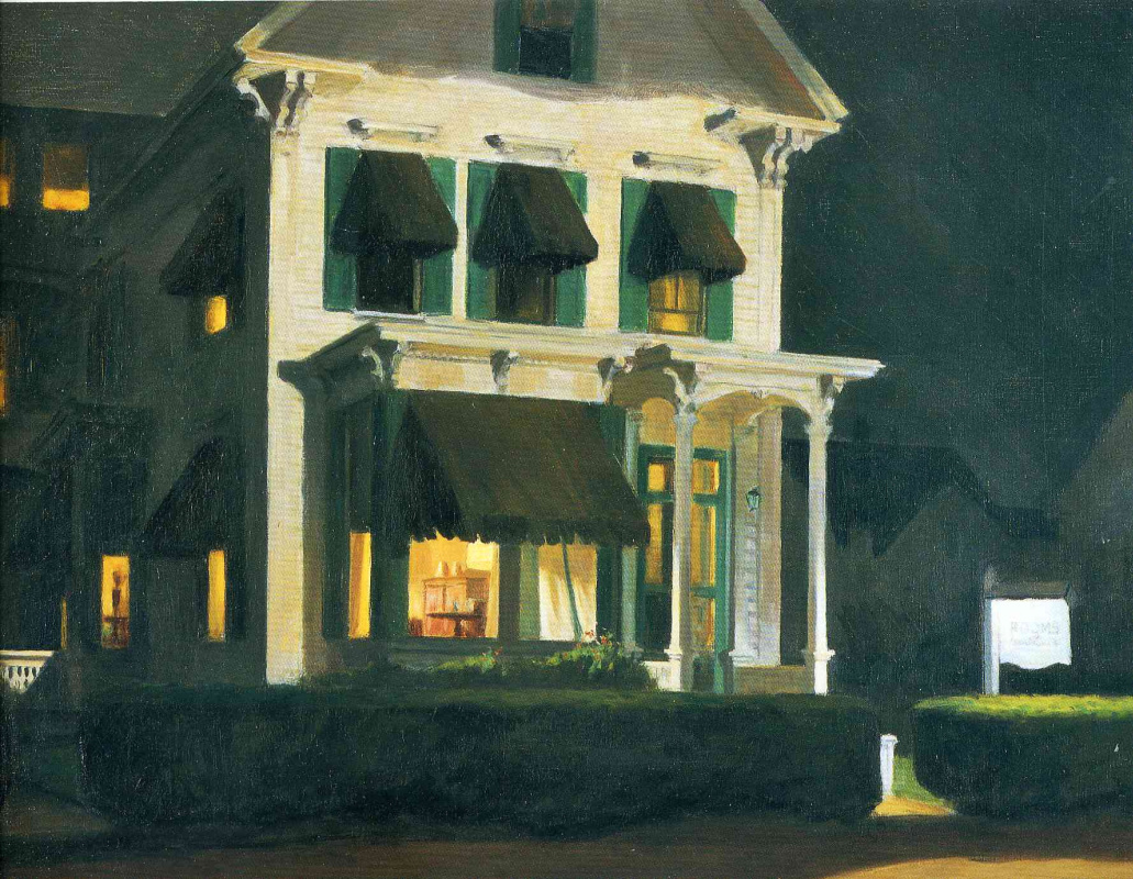 Edward Hopper. Rooms for tourists