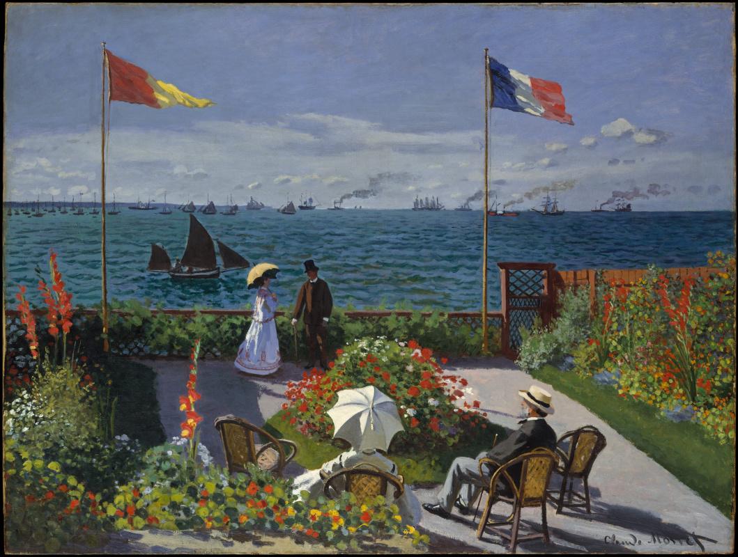 Claude Monet. Terrace at Sainte-Adresse