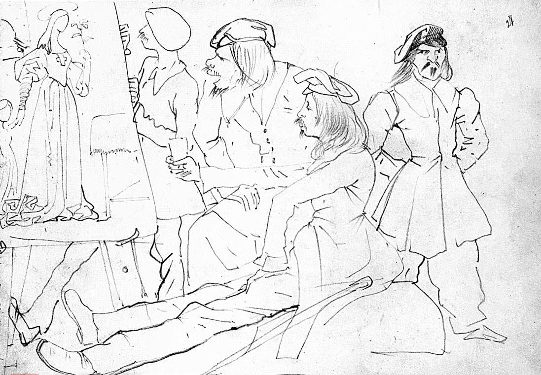 Karl Pavlovich Bryullov. German students (the artists of the time Nazarene works)
