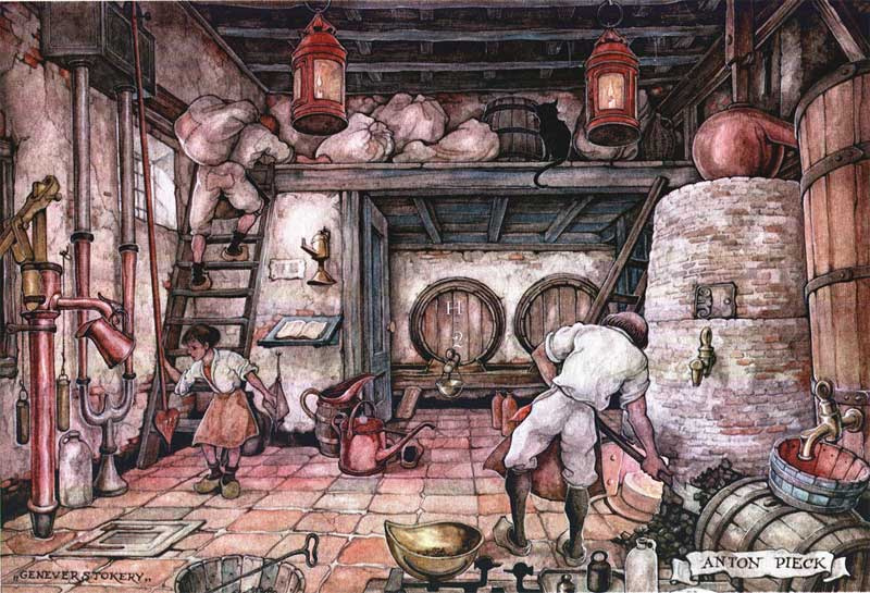 Anton Pieck. Masters and apprentices. Stoker
