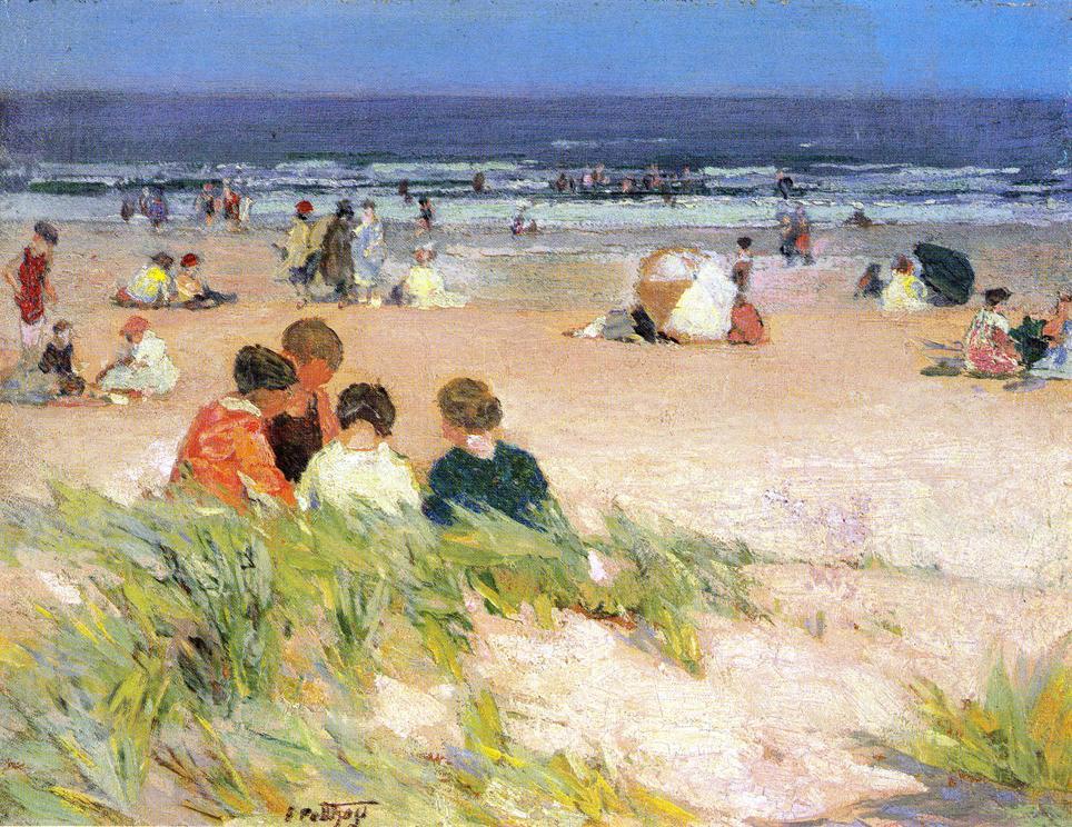 Edward Henry Pottast. On the shore
