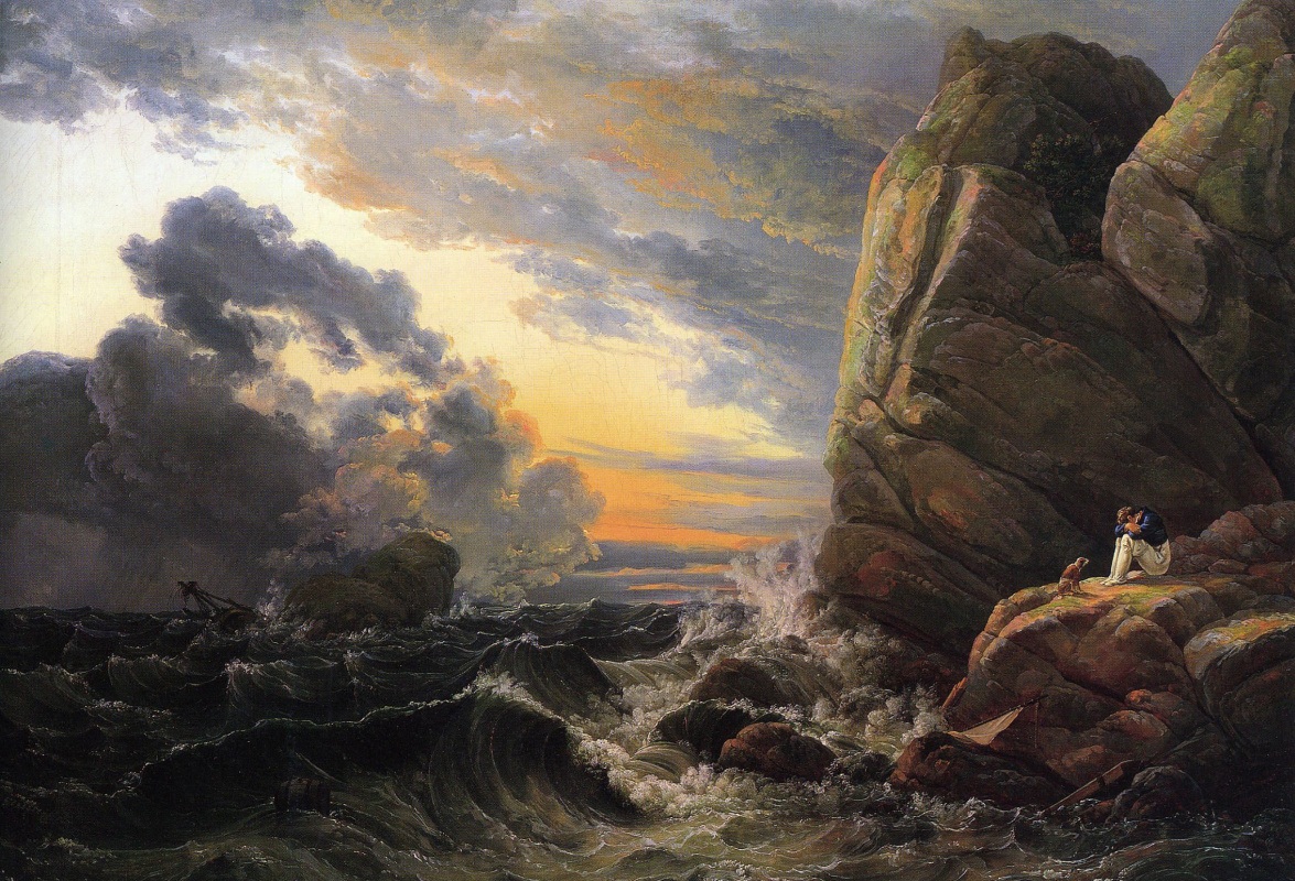 Johan Christian Klausen Dahl. Утро после шторма