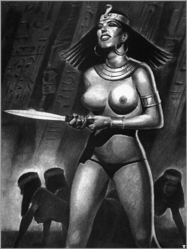 Ллопис. Девушка с ножом
