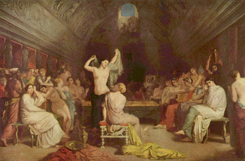 Theodore Chassiorio. Roman bath