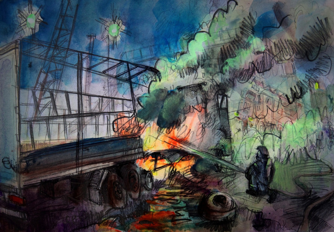 Ilya Pavlovich Spichenkov. Wagon with threads