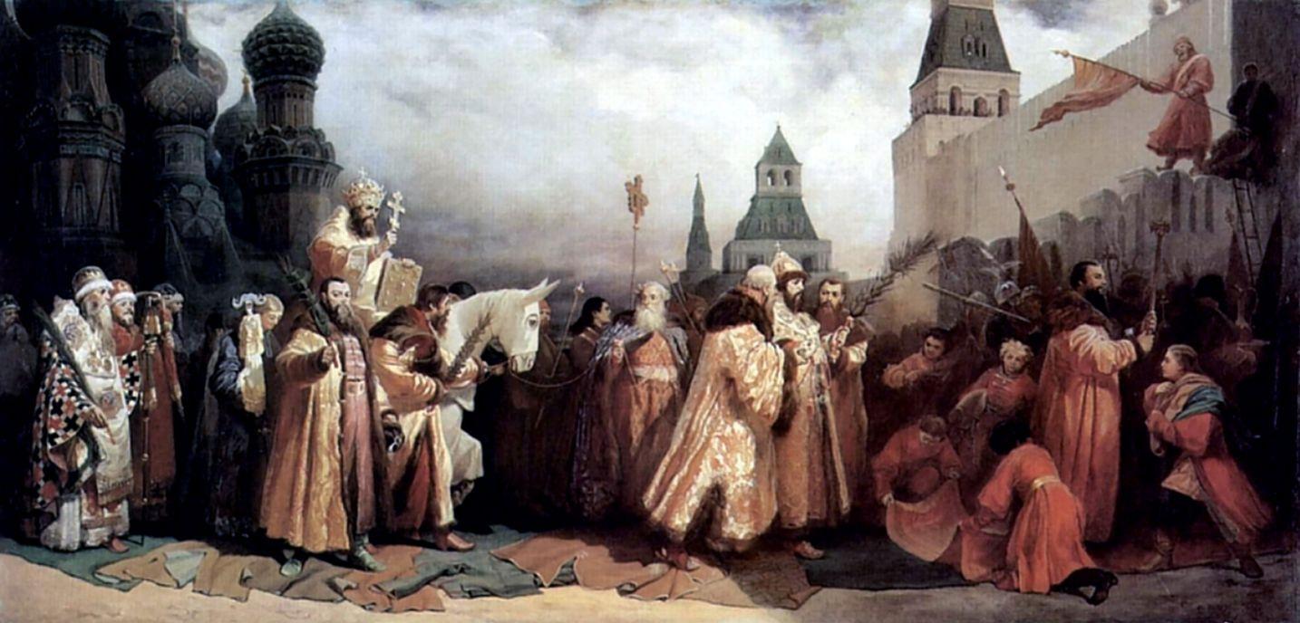 Вячеслав Григорьевич Шварц. Вербное воскресенье в Москве во времена царя Алексея Михайловича
