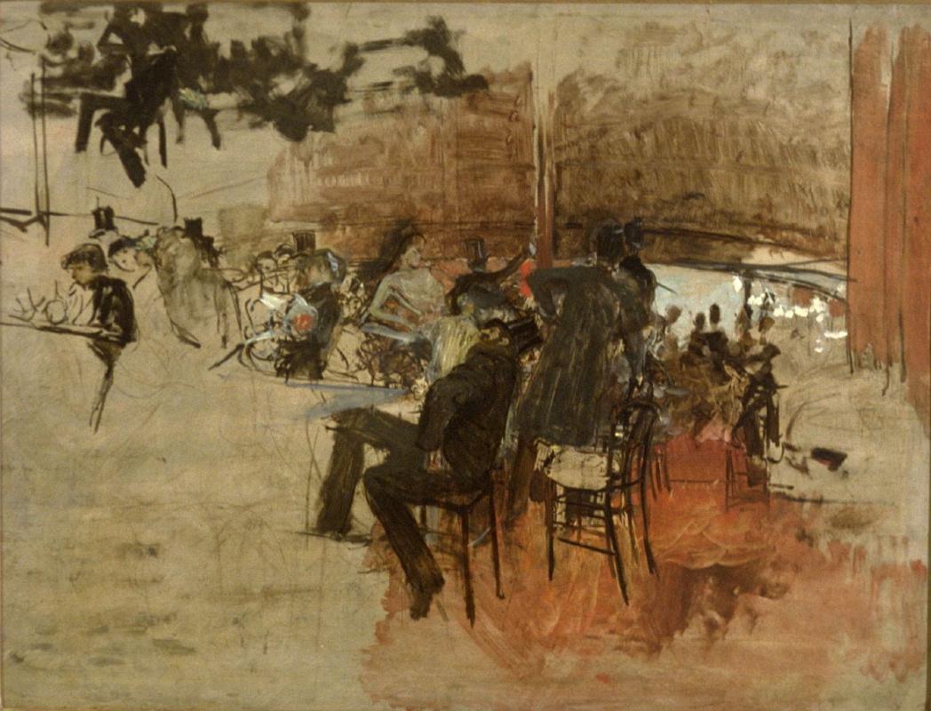 Джованни Больдини. В кафе