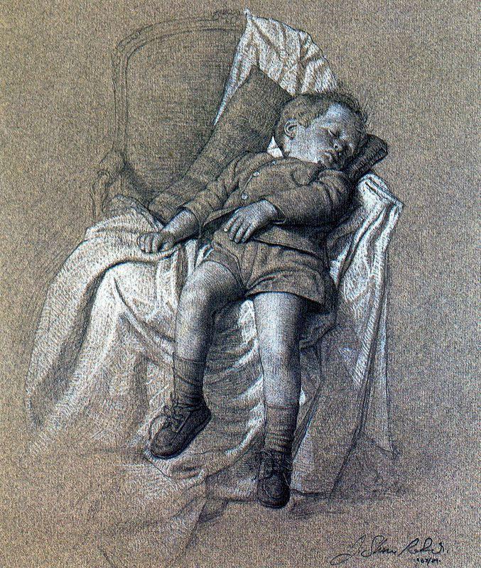 Стоун Робертс. Спящий мальчик