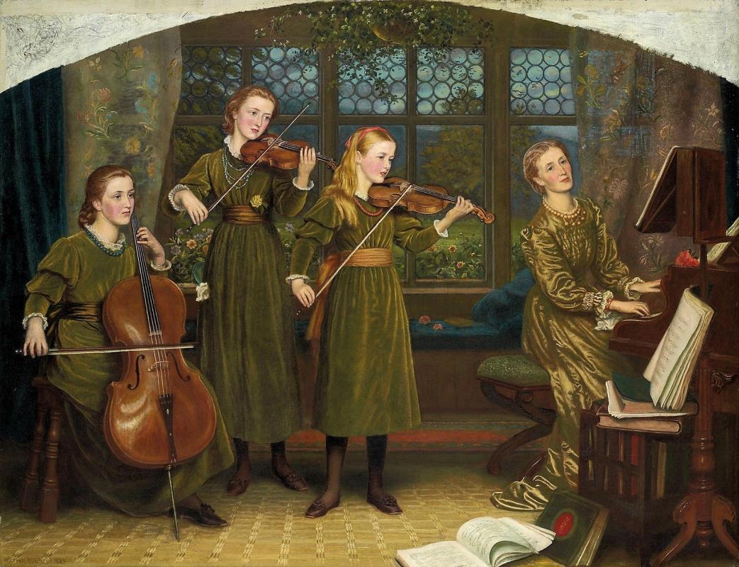 Arthur Hughes. Home quartet. Mrs. Vernon Lushington with daughters