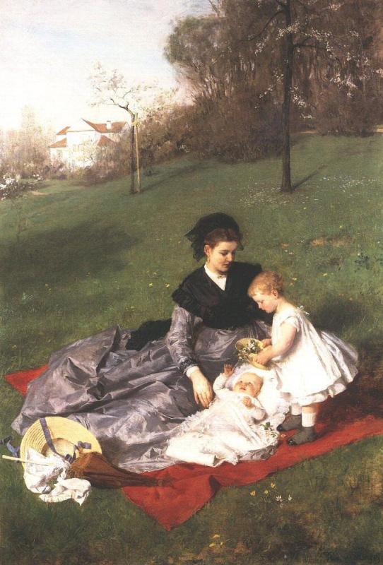 Пал Синьеи-Мерше. Мать с детьми