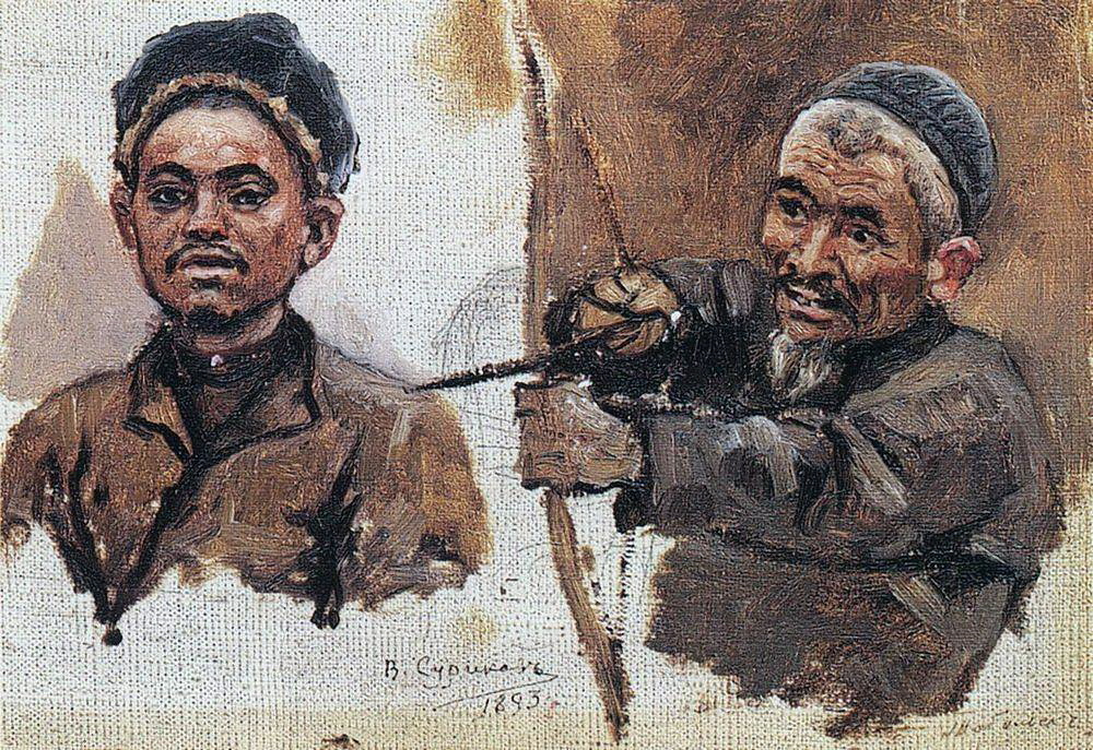 Василий Иванович Суриков. Головы татар