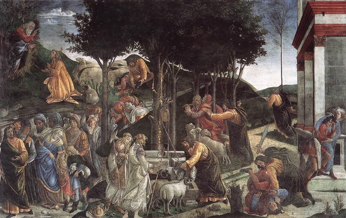 Сандро Боттичелли. Сцены из жизни Моисея