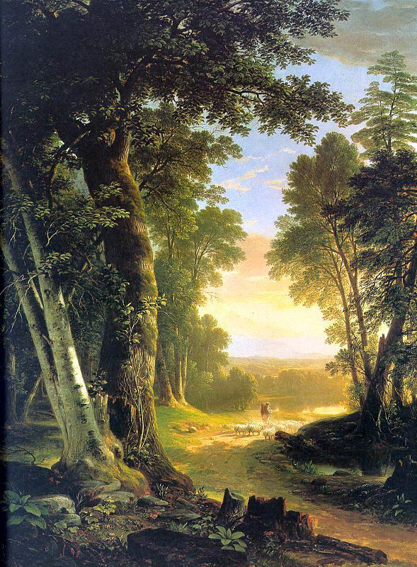 Ашер Браун Дюран. Лучи солнца в лесу