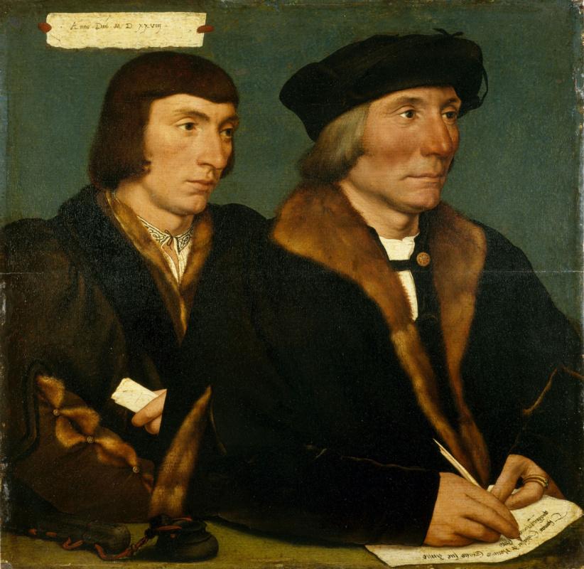 Hans Holbein. Portrait of Thomas Godsalve and his son sir John
