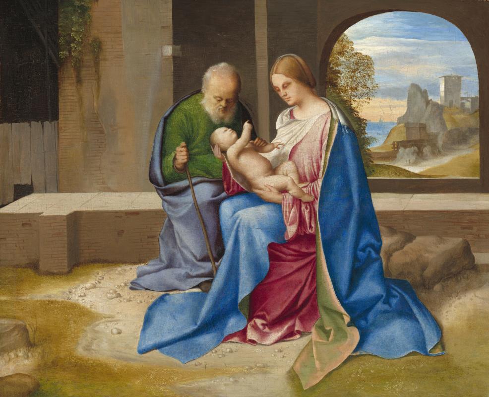 Giorgione. Holy family