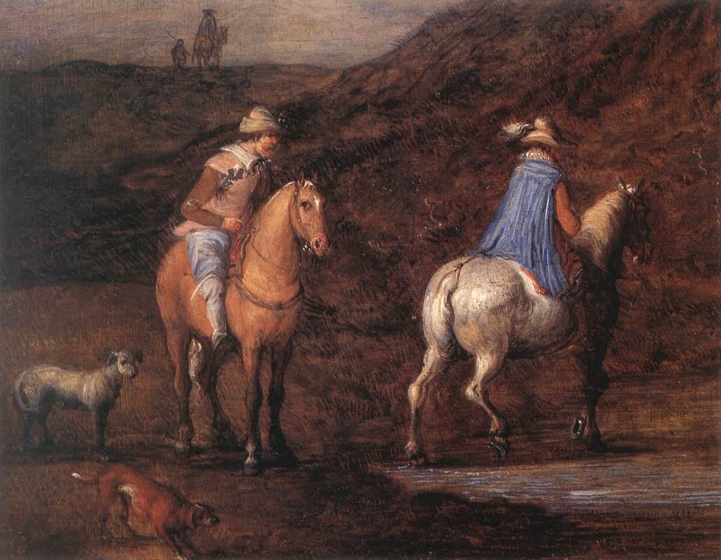 Jan Bruegel The Elder. Riders on horseback