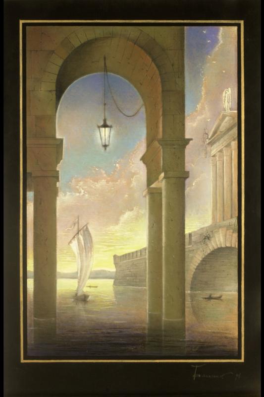 Борис Талесник, архитектор, художник. Венеция, яхта