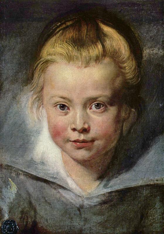 Peter Paul Rubens. Portrait Of Clara Serena Rubens