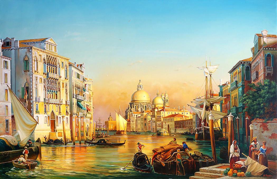 Владимир Абат-Черкасов. Venice in the evening.