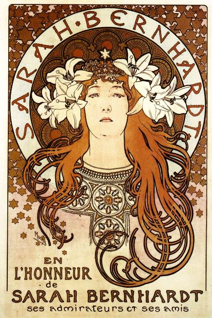 Alfonse Mucha. Sarah Bernhardt in the role of Melisande