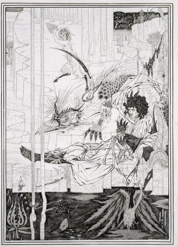 Aubrey Beardsley. Siegfried, Act II