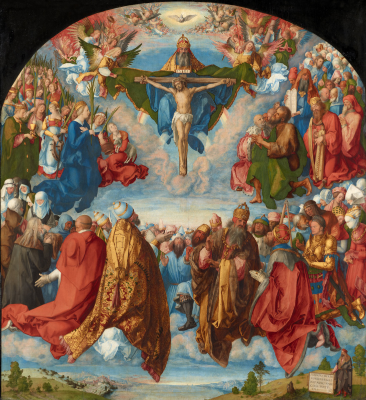 Albrecht Durer. The Adoration of the Holy Trinity (Landauer Altar)