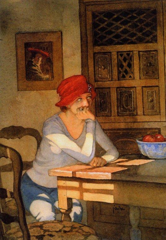 Джада Ровланд. Дама в красной шляпе