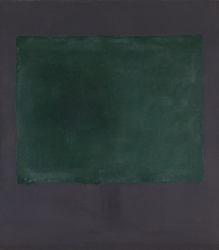 Rothko Mark. Green to purple
