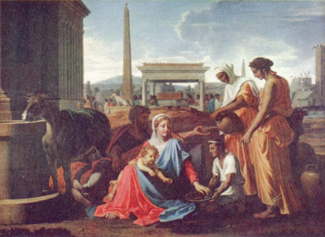 Nicola Poussin. Rest on the flight into Egypt
