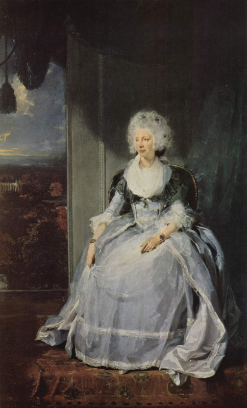 Thomas Lawrence. Portrait of Queen Charlotte