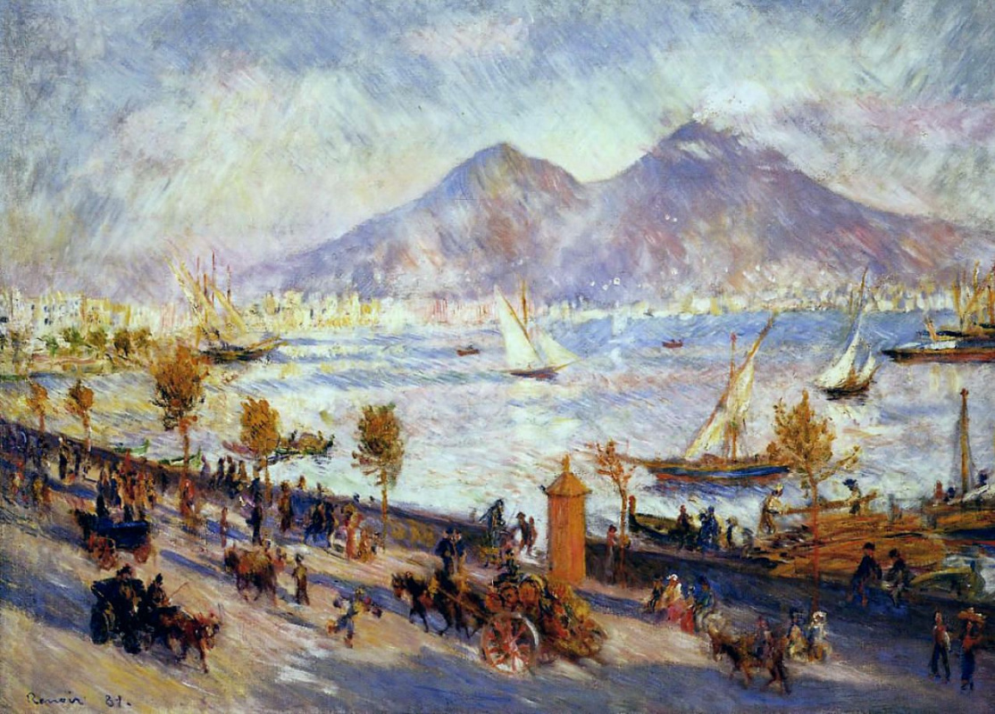 Pierre-Auguste Renoir. Mount Vesuvius in the morning