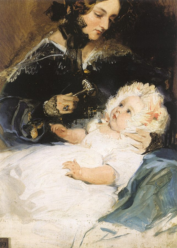 Герцогиня с ребенком