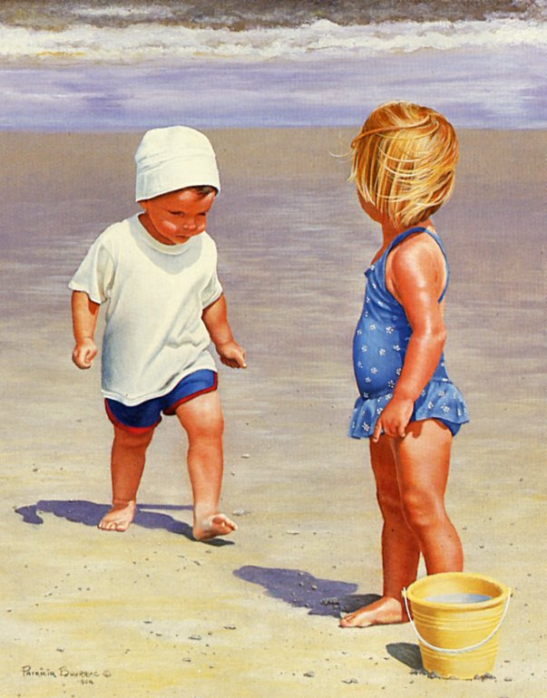 Патриция Борк. Дети на пляже