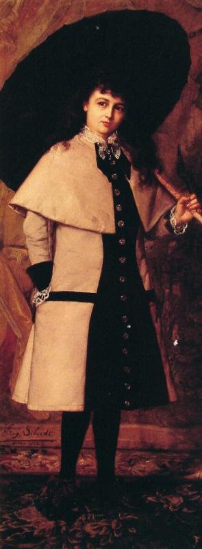 Эжен Сибердт. Молодая девушка с зонтом