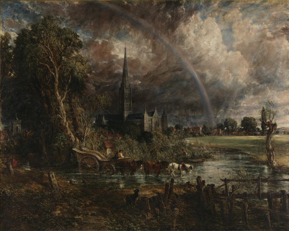 John Constable. Salisbury Cathedral from the meadows