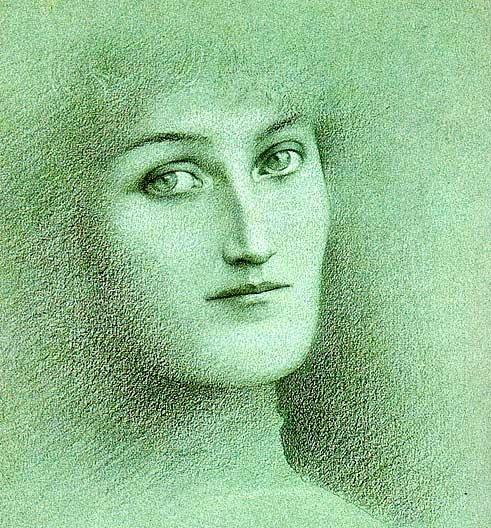 Fernand Khnopff. Feminine look