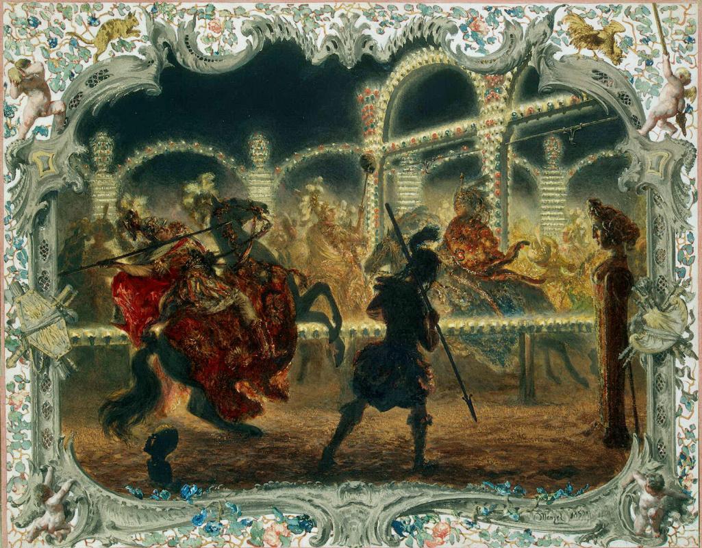 Адольф фон Менцель. Ночная карусель под предводительством Фридриха Великого