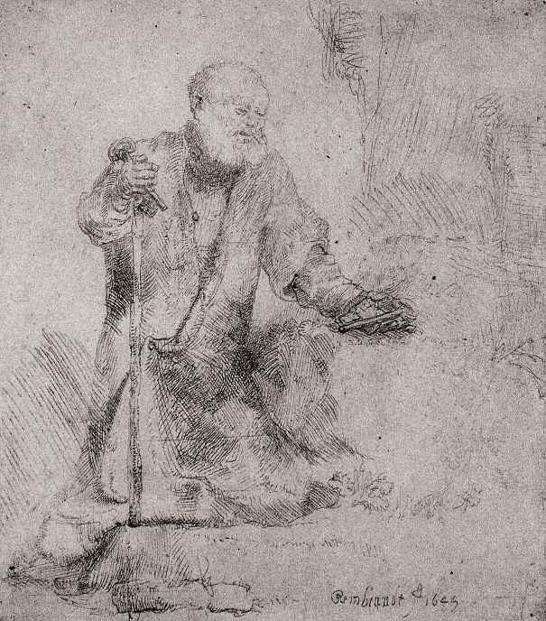 Рембрандт Ван Рейн. Раскаяние святого Петра