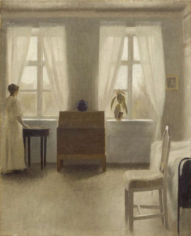 Вильгельм Хаммерсхёй. В спальне