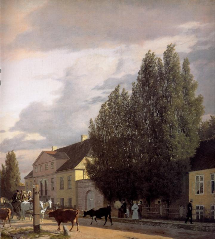 Кристен Кобк. Вид на улицу в пригороде Копенгагена