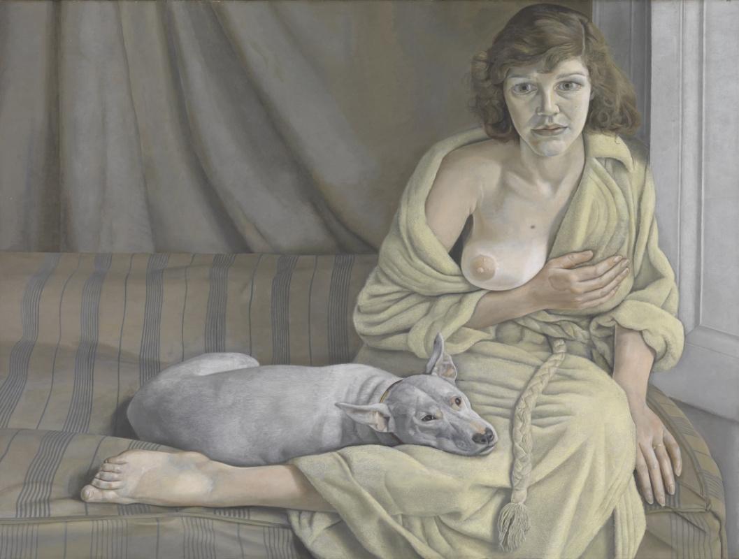 Люсьен Фрейд. Девушка с белой собакой