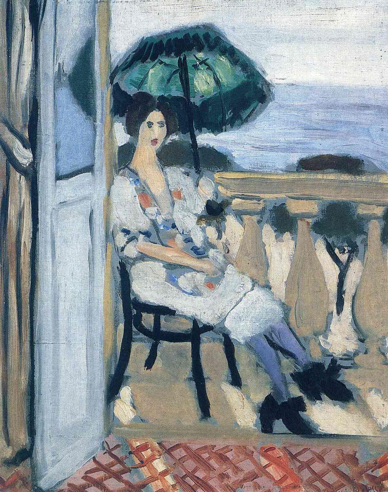 Анри Матисс. Женщина, держащая зонтик