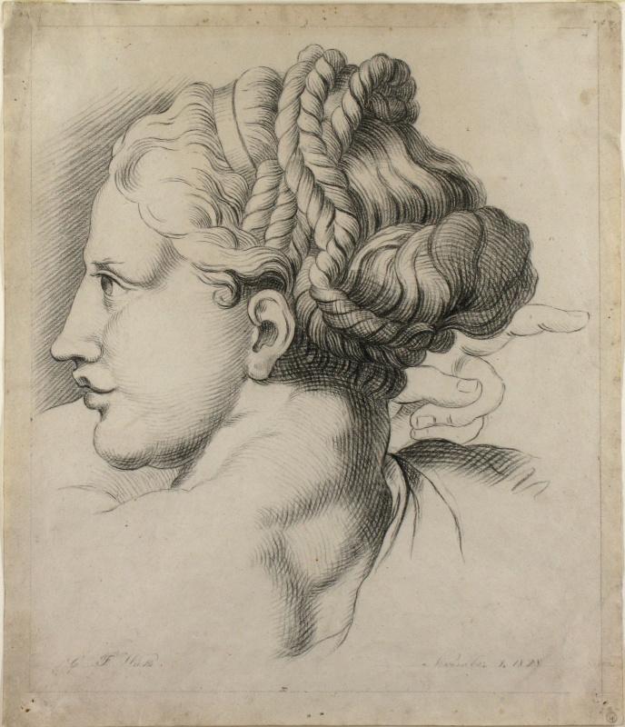 Джордж Фредерик Уоттс. Рисунок женской головы из «Трансфигурации» Рафаэля