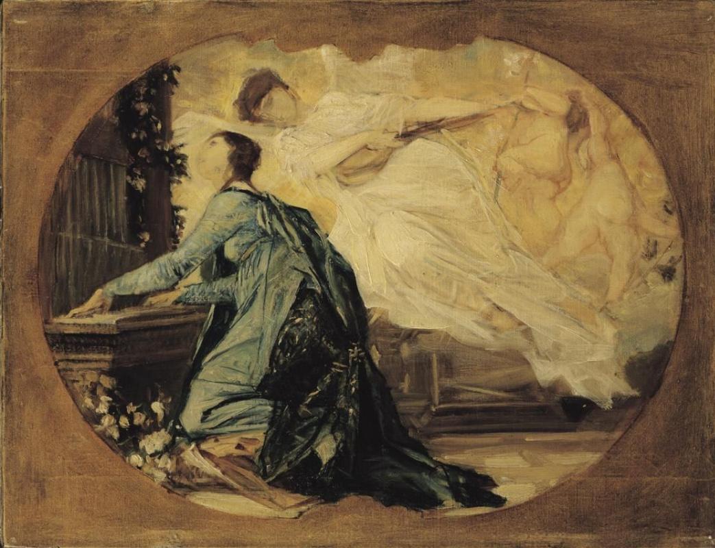 Gustav Klimt. Organist (Allegory of Church music)