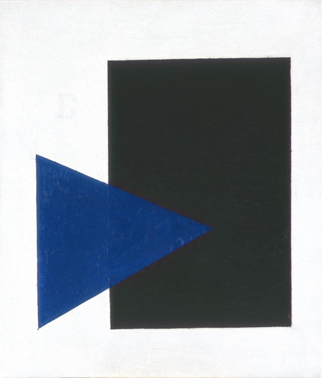 Kazimir Malevich. Suprematist composition (with blue triangle and black rectangle)