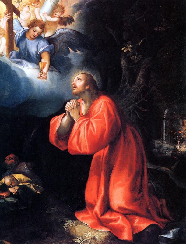 Денис Калверт. Молитва в саду