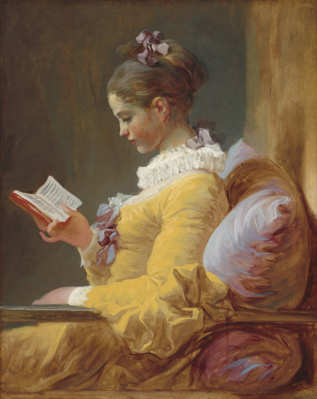 Jean-Honore Fragonard. Reading girl