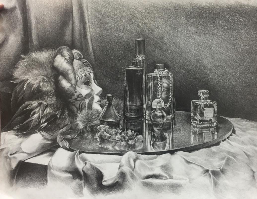 Diana Eminovna Rasulova. Still life with a mirror