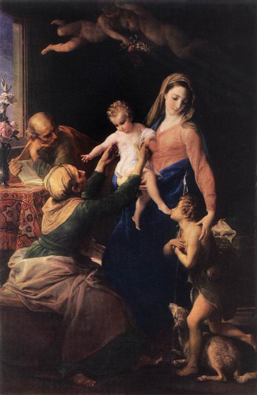 Помпео Джироламо Батони. Святое Семейство со св. Елизаветой и св. Иоанном Крестителем